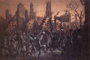 Thomas Nast Entrance of the 55th Massachusetts Regiment into Charleston oil painting picture wholesale