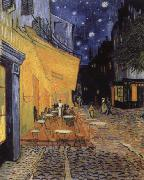 Vincent Van Gogh cafe terrace at the Place you forum in Arles in night oil painting reproduction