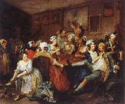 William Hogarth The Rake-s Progress the orgy oil painting picture wholesale