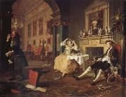 William Hogarth shortly after the wedding oil painting picture wholesale