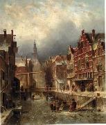 unknow artist European city landscape, street landsacpe, construction, frontstore, building and architecture.018 oil painting picture wholesale