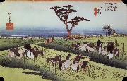 unknow artist Chiriu out of the series the 53 stations of the Tokaido oil painting picture wholesale