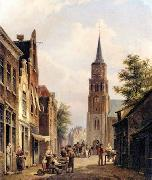 unknow artist European city landscape, street landsacpe, construction, frontstore, building and architecture.023 oil painting picture wholesale