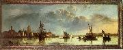 Aelbert Cuyp View on the Maas at Dordrecht oil