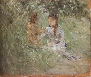 Berthe Morisot The woman and children are in the park oil