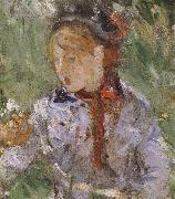 Berthe Morisot Detail of  The woman and children are in the park oil