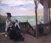 Berthe Morisot In a Villa at the Seaside oil