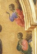 Duccio di Buoninsegna Detail of The Virgin Mary and angel predictor,Saint oil painting picture wholesale