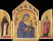 Duccio di Buoninsegna The Virgin Mary and angel predictor,Saint oil painting picture wholesale