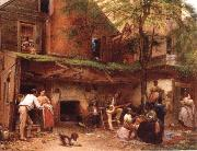 Eastman Johnson Negro life at the South oil