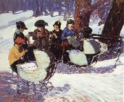 George Luks Weaving for Soldier oil painting picture wholesale