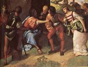 Giorgione The Adulteress brought Before Christ oil painting picture wholesale