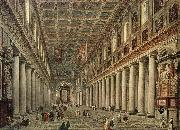Giovanni Paolo Pannini Interior of the Santa Maria Maggiore in Rome oil painting picture wholesale