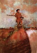 Howard Pyle George Rogers Clark on his way to kaskaskia oil painting artist