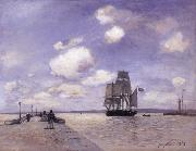 Johan Barthold Jongkind The Jetty at Honflewr oil painting artist