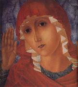 Kuzma Petrov-Vodkin The Mother of God of Tenderness towards Evil Hearts oil painting artist