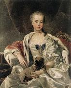 LOO, Louis Michel van ) Portrait of Catherina Golitsyna oil painting artist