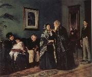 Makovsky, Vladimir In the Doctor-s Wating Room oil painting artist