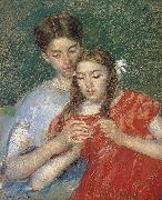 Mary Cassatt sewing class oil painting picture wholesale