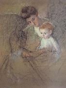 Mary Cassatt Study of Mother and kid oil painting picture wholesale
