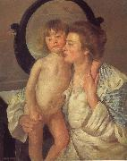 Mary Cassatt Mother and son oil painting picture wholesale