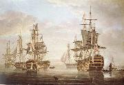 Nicholas Pocock This work of am exposing they five vessel as elbow bare that gora with Horatio Nelson and banskarriar oil