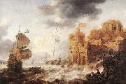 PEETERS, Bonaventura the Elder An Oriental Harbour oil painting artist