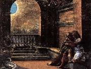 RAFFAELLO Sanzio Isaac and Rebecca Spied upon by Abimelech oil painting picture wholesale