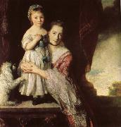 Sir Joshua Reynolds Georgiana,Countess Spencet and Lady Georgiana Spencer oil painting picture wholesale