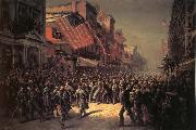 Thomas Nast The Departure of the Seventh Regiment to the War oil painting picture wholesale