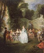WATTEAU, Antoine Unknown work oil painting picture wholesale