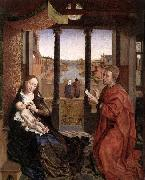 WEYDEN, Rogier van der St Luke Drawing a Portrait of the Madonna oil painting picture wholesale