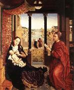 WEYDEN, Rogier van der St Luke Drawing the Portrait of the Madonna oil painting picture wholesale