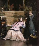 William McGregor Paxton The new necklace oil