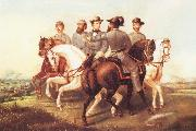unknow artist Jefferson Davis and His Generals oil painting picture wholesale