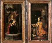 unknow artist Diptych with Margaret of Austria Worshipping oil painting picture wholesale