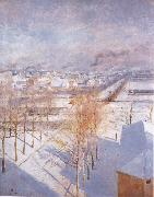 Albert Edelfelt Paris in the Snow oil