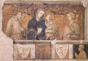 Ambrogio Lorenzetti Madonna with St Francis and St John the Evangelist oil painting picture wholesale