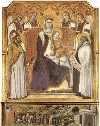 Ambrogio Lorenzetti Madonna with Angels between St Nicholas and Prophet Elisha oil painting picture wholesale