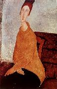 Amedeo Modigliani Yellow Sweater oil painting reproduction