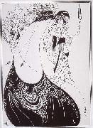 Aubrey Beardsley The Peacock Sirt oil