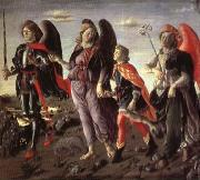 BOTTICINI, Francesco The Tree Archaangels and Tobias oil painting