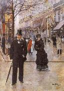 Beraud, Jean On the Boulevard oil painting artist