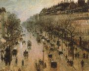 Camille Pissarro The Boulevard Montmartre on a Winter Morning oil painting on canvas