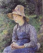 Camille Pissarro Bathing girl who sat up haret oil painting picture wholesale