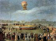 Carnicero, Antonio Ascent of the Balloon in the Presence of Charles IV and his Court oil