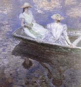 Claude Monet Young Girls in a boat oil painting picture wholesale
