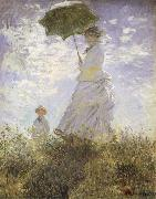 Claude Monet The Walk,Lady iwth Parasol oil painting picture wholesale