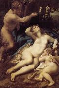 Correggio Venus, satyr and Cupido oil painting picture wholesale