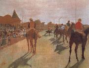 Edgar Degas Race Horses in Front of the Stand oil painting reproduction